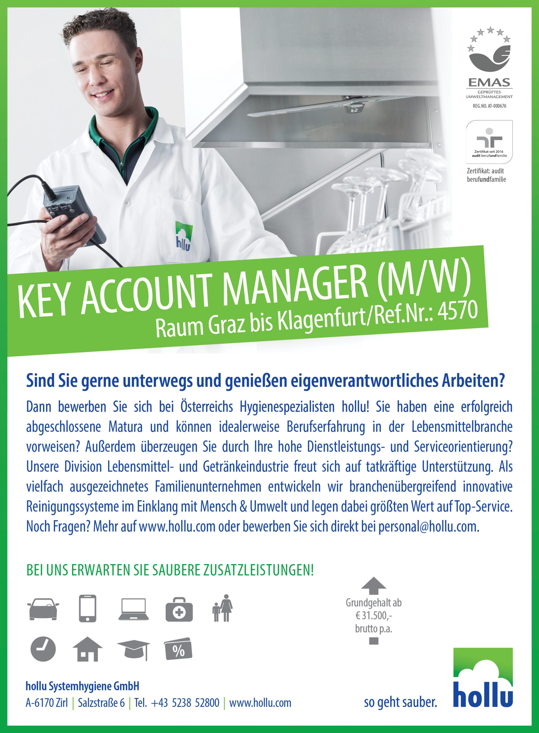 Key Account Manager (m/w) – Steiermark