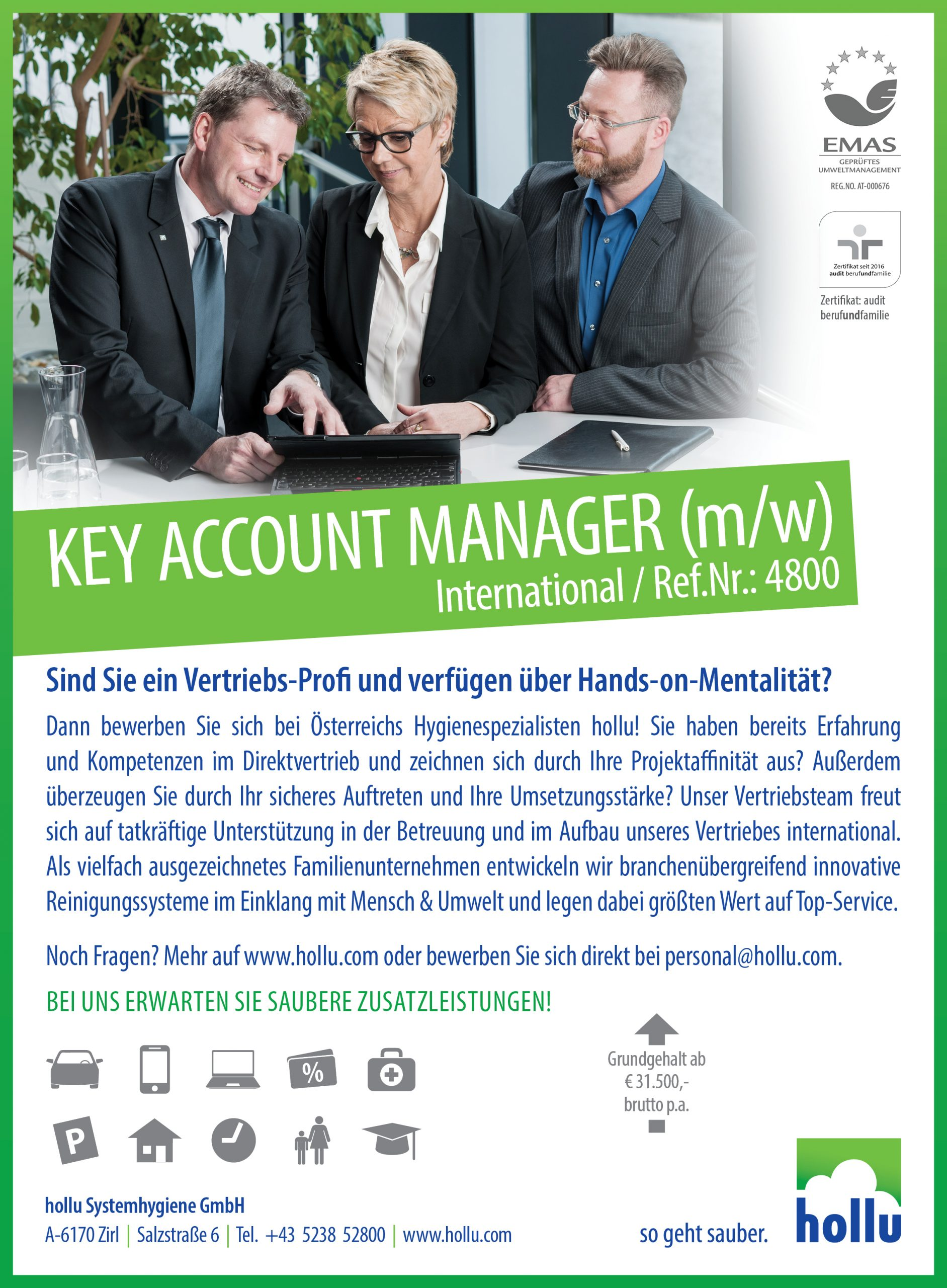 Key Account Manager (m/w) – Zirl